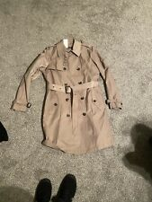 Ralph Lauren Womens Belted Overcoat Trench Coat