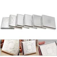 Stainless Steel Cigarette Case Embossed Metal Cigarette Case Box