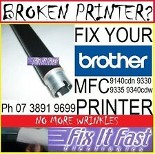 Brother MFC-9330cdw 9330 9340 TN251 TN255 Heat Roller to Fix Wrinkling Embossing