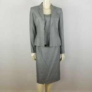 Kasper 3 piece gray skirt suit size 6 career