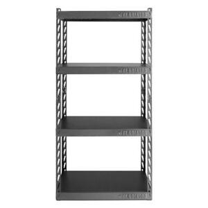 Gladiator Garage Storage Shelving Unit Adjustable Height Steel Frame 4-Tier