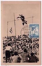 Rare 1950 Heysel Stadium Belgium BELGIAN PC Postcard EUROPEAN CHAMPIONSHIP