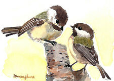 ACEO Limited Edition - Chickadee friends