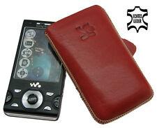Original SunCase Etui Tasche für Sony Ericsson W995 ROT