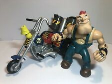 GALOOB BIKER MICE FROM MARS GREASEPIT & GRUNGE CYCLE ACTION FIGURE SET (3)