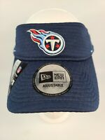 Tennessee Titans NFL Training Visor Cap New Era Adjustable Fit Netech Wicking