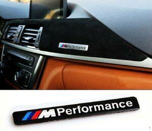 BMW M Performance 3D Emblem Sticker Badge Chrome Black
