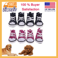 4 Pcs Dog Shoes For Winter Hiking Summer Anti Slip Pet Puppy Sport Denim Small