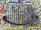 """FIRE GRILL GRATE VINTAGE CAST IRON FIRE PLACE OLD - 10.5"""" D - 15"""" FW 10.5 BW"""
