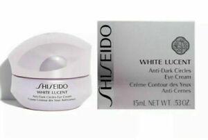 Shiseido White Lucent Anti-Dark Circles Eye Cream 0.53 oz/ 15 ml NEW BOX SEALED