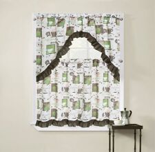 Regal Home Collections Cappuccino 3-Piece Printed Tier Curtain and Swag Set