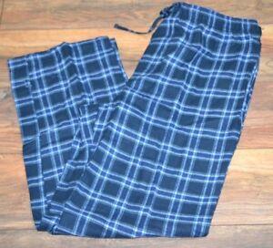 Croft & Barrow Flannel Lounge Pants Men's Big & Tall Sizes Blue Plaid