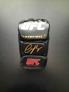 "Conor McGregor Signed Autographed UFC MMA Glove Inscribed ""Notorious"" BAS Review"