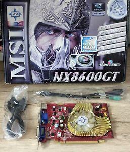 MSI GeForce 8600GT 256MB DDR2 Graphics Card VGA NX8600GT-TD256E-OC-D2 with BOX