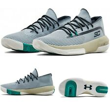 Under Armour Stephen Curry SC 3ZER0 III Men Basketball Shoe Harbor Blue Size 7