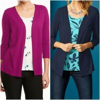 NEW Ex B M Ladies PINK NAVY mock layer tunic top Size 10- 24