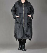 ♦  AKH Fashion PVC Ballon-Mantel EG 44,46,48,50 schwarz, Zipper, Kapuze ♦