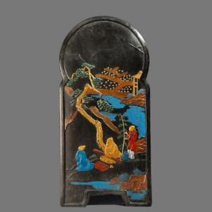 FINE CHINESE CARVED BLACK INK STICK WITH MING MARKED (K1042)