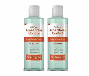 Neutrogena Oil-Free Acne Stress Control Toner 8 oz. EACH (Pack of 2) EXP 09/2020