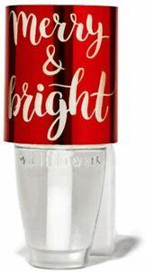 Bath & Body Works MERRY & BRIGHT RED Nightlight WALLFLOWERS Fragrance Plug NEW