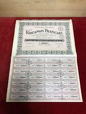 LOT 10 ACTIONS COMPAGNIE NOUVELLE DU KOUANGO FRANCAIS 1930