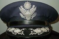 Replica1960'S Air Force USAF GENERAL OFFICER DIRECT BULLION EAGLE Visor Cap Hat