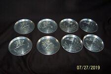 8 Vintage Waterfowl Cattail Aluminum Coasters ~ Canadian Geese in Flight & Ducks