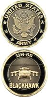 ARMY BLACKHAWK UH-60 BLACK MILITARY  CHALLENGE   COIN