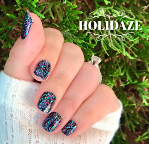 Color Street Nail Strip Twosie/Accent- 3 PACKS of HOLIDAZE!