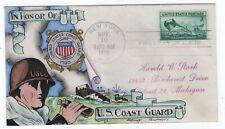 #936 U.S. Coast Guard  - Dorothy Knapp Hand Painted 1945 FDC