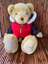 "Harrods 2017 Birthday Foot Dated 13"" Christmas Teddy Bear Named Bertie Nwot"
