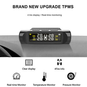 4 Build-in Sensors Wireless TPMS Real-time Car Tire Tyre Pressure Monitor System