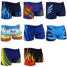 b48339d30d Swimwear Men Trunks Boxer Shorts Pants Spandex Briefs Fire Burning Square  Leg