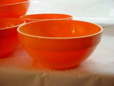 Orange Plastic Cereal Bowls Vtg Plasticware