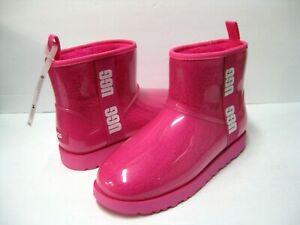 UGG CLASSIC CLEAR  MINI WOMEN ANKLE BOOTS ROCK ROSE US 10 /UK 8 /EU 41