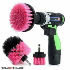 Pink Electric Drill Brush Attachment for Cleaning Carpet Leather Ppholstery