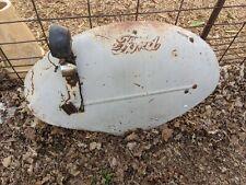 Ford Embossed Logo Tractor Fender Skin Lights Oem Metal Clam 41x25 Vtg Parts