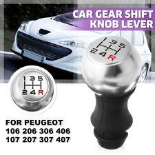 5 Pommeau Levier Vitesse R Rouge Mat pour Peugeot 106 206 306 406 207 307 407