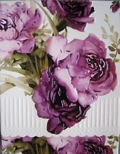 Carol Wilson Purse Embossed Note Pad Purple Roses Rose Magnetic 90 Sheets