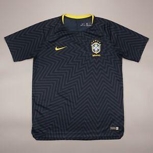 Brazil Pre-Match 2018 2019 Football Soccer Shirt Jersey Youth Size XL Nike Kit