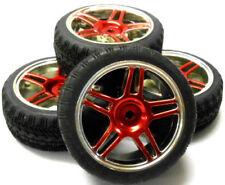 Neumáticos, llantas y bujes rueda de color principal azul para vehículos de radiocontrol