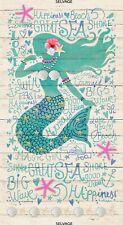 "23"" Fabric Panel - Timeless Treasures Mermaid Beach Nautical Sand"