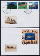 Slovenia 1006-9 on FDC's - Fish, Turtle, Marine Life