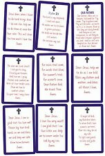SET of 9 Different CHILDRENS Bookmark Prayer cards DEAR JESUS... Psalm 23 FATHER