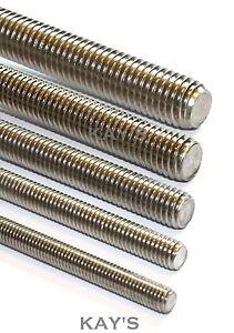 FULLY THREADED ROD/BAR/STUDDING/ALLTHREAD M2.5,3,4,5,6,8,10mm A2 STAINLESS STEEL
