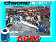 BLUE 98-03 CHEVY S10 S-10 ZR2/XTREME/HOMBRE/SONOMA 2.2 2.2L COLD AIR INTAKE 3""