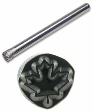 JEWELERS OR METAL WORKER DESIGN STAMP MAPLE LEAF #124
