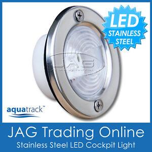 LED STAINLESS STEEL COCKPIT COURTESY TRANSOM BOAT LIGHT -Boat/Yacht/Marine/Stern