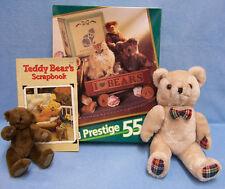 Lot of 4 Prestige Jigsaw Puzzle 2 Plush Teddy Bear Book Teddy Bears Scrapbook