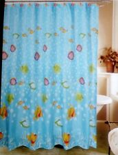 "FISH PRINTS FABRIC SHOWER CURTAIN SET W/MATCHING  HOOKS  70""X 72"" NEW WITH TAGS"